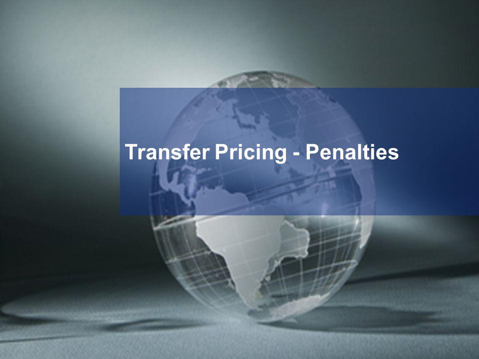 Transfer Pricing - Penalties