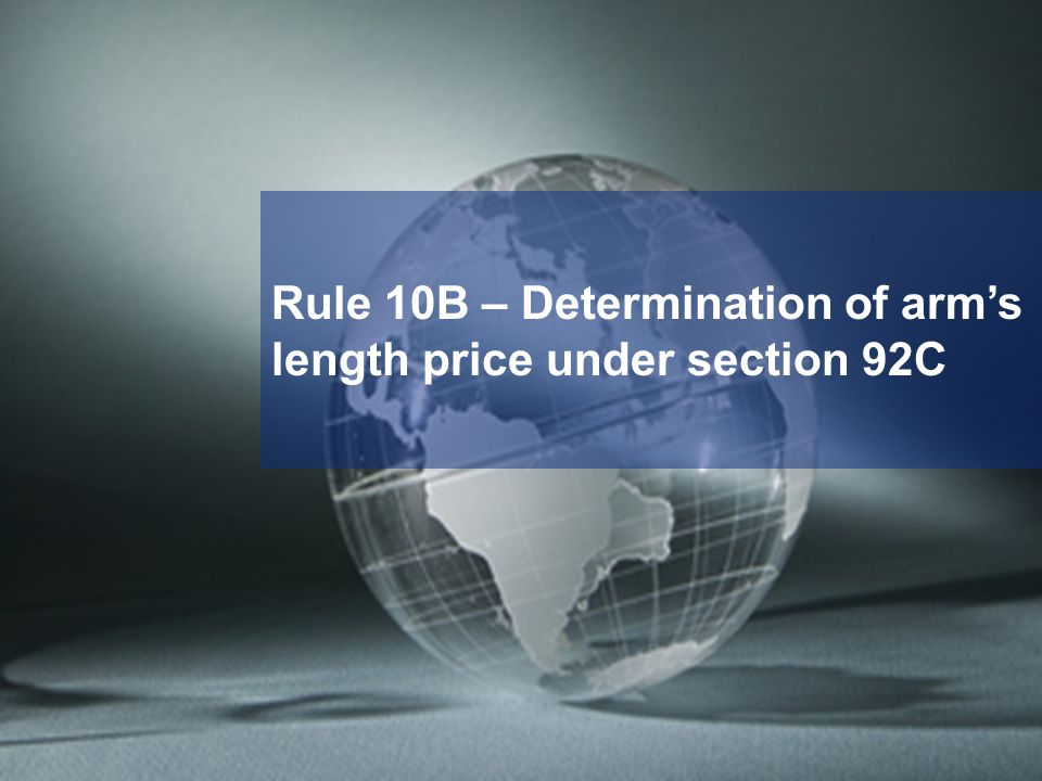Rule 10B – Determination of arm's length price under section 92C