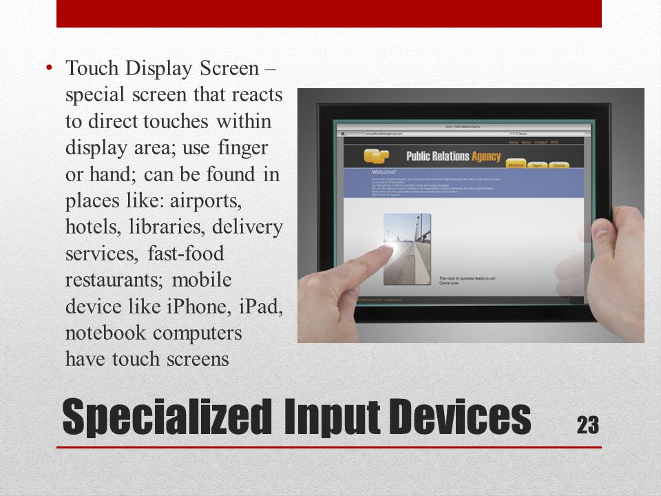 Specialized Input Devices