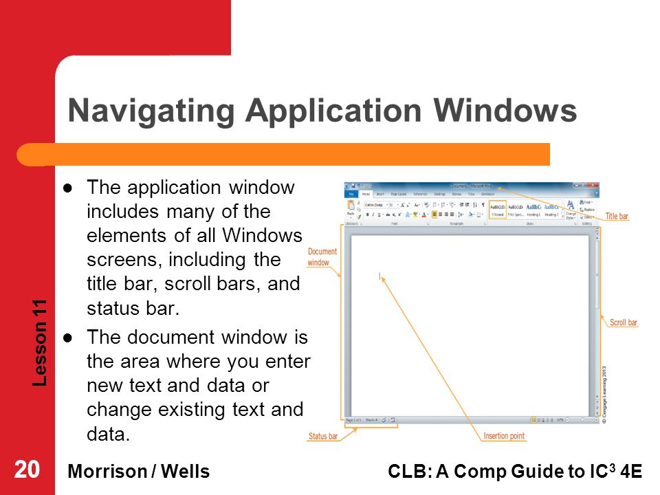 Navigating Application Windows