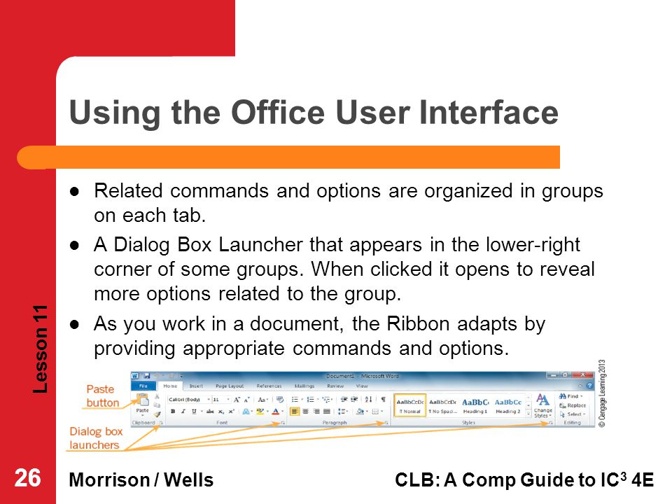 Using the Office User Interface
