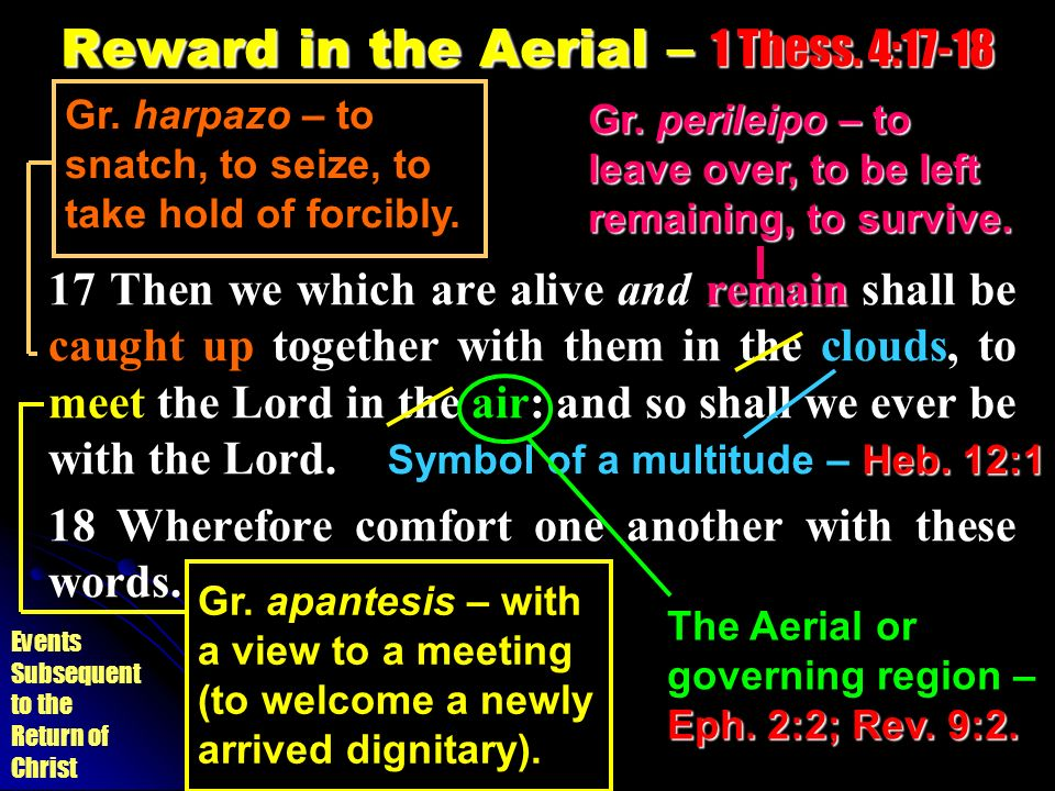 Reward in the Aerial – 1 Thess. 4:17-18