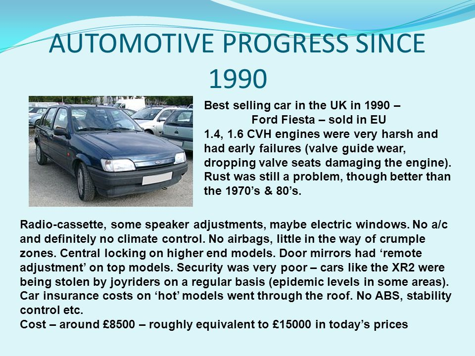 AUTOMOTIVE PROGRESS SINCE 1990
