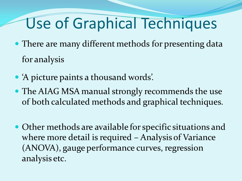 Use of Graphical Techniques