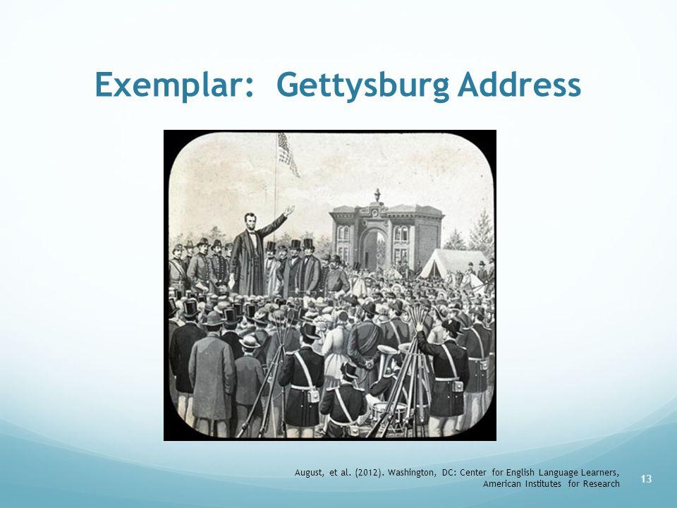 Exemplar: Gettysburg Address