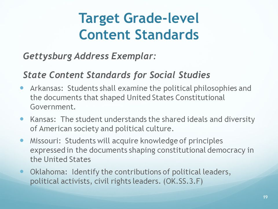 Target Grade-level Content Standards