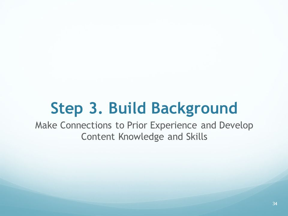 how to develop content knowledge