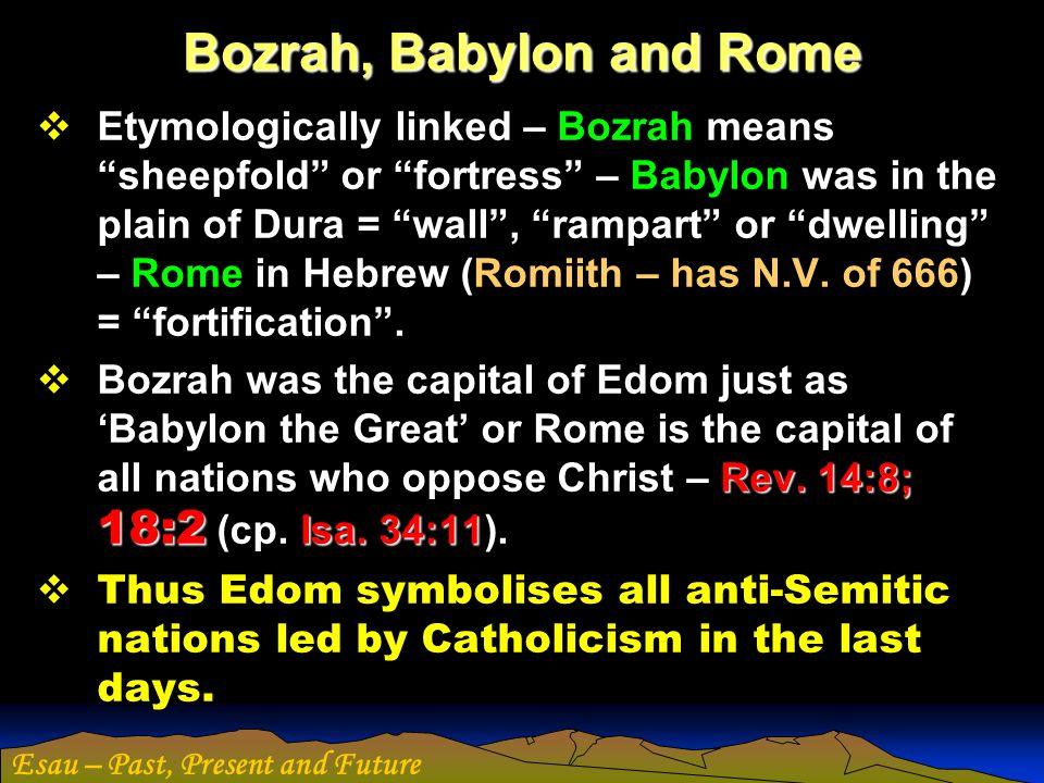 Bozrah, Babylon and Rome