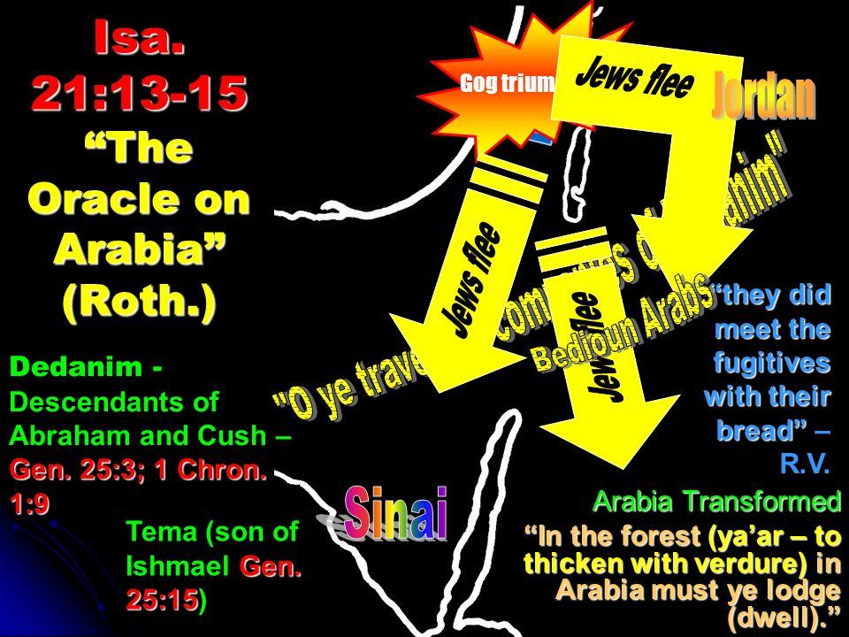Isa. 21:13-15 The Oracle on Arabia (Roth.)