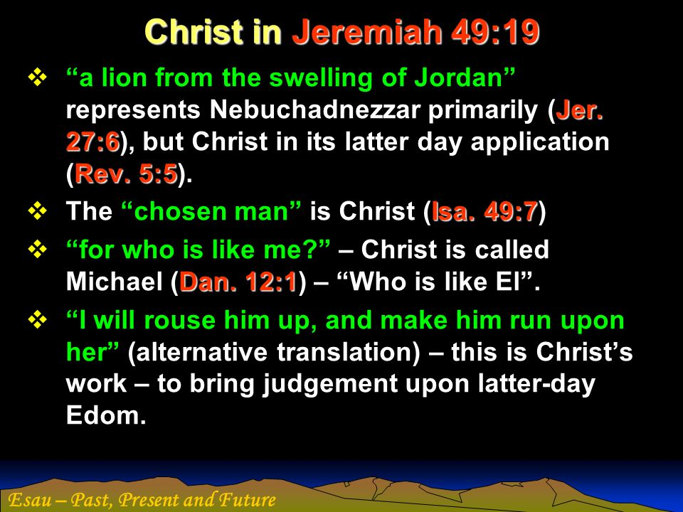 Christ in Jeremiah 49:19