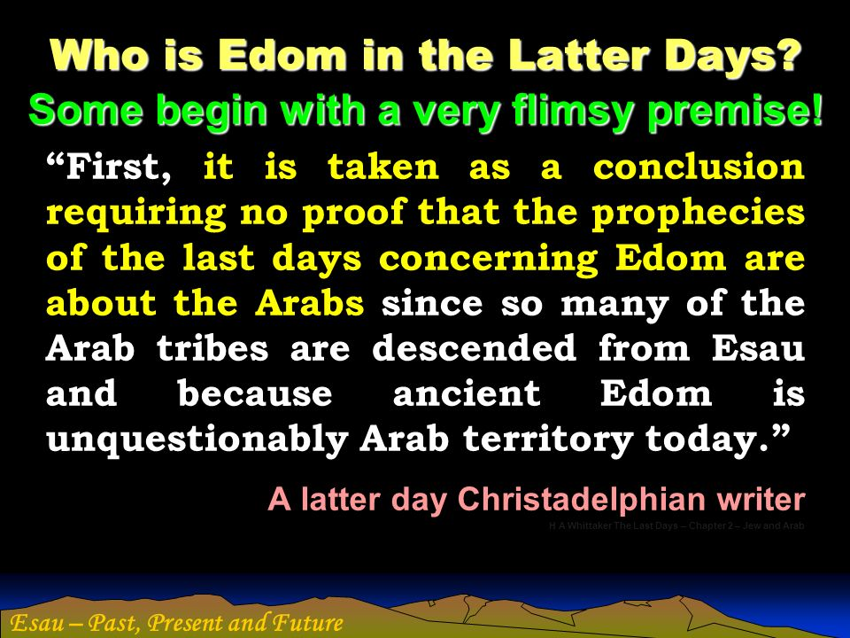 Who is Edom in the Latter Days