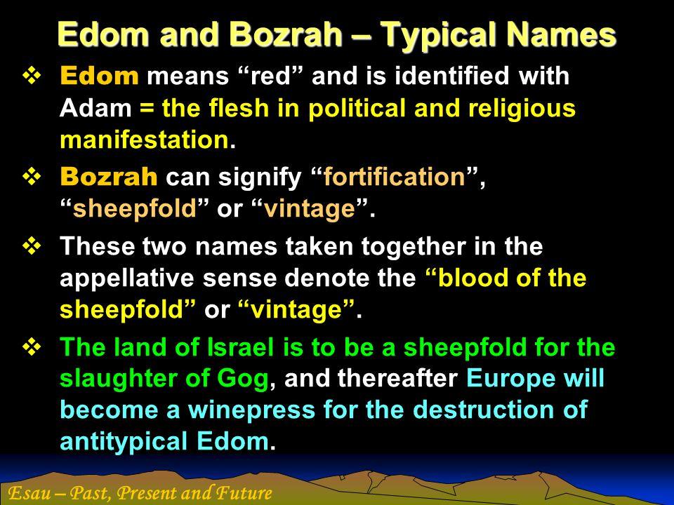 Edom and Bozrah – Typical Names