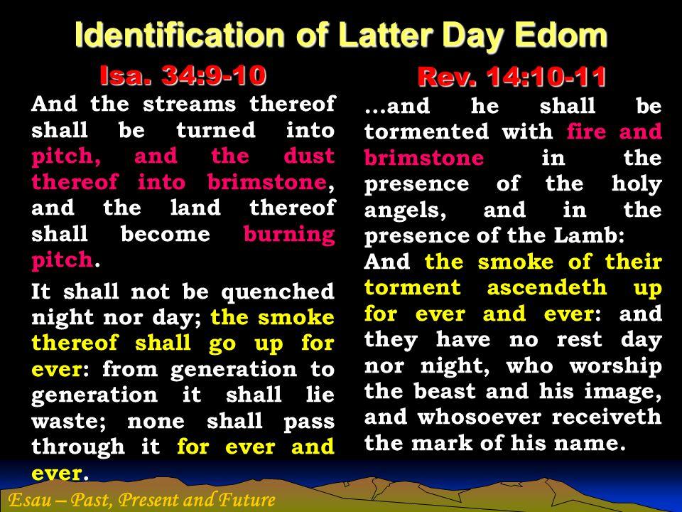 Identification of Latter Day Edom