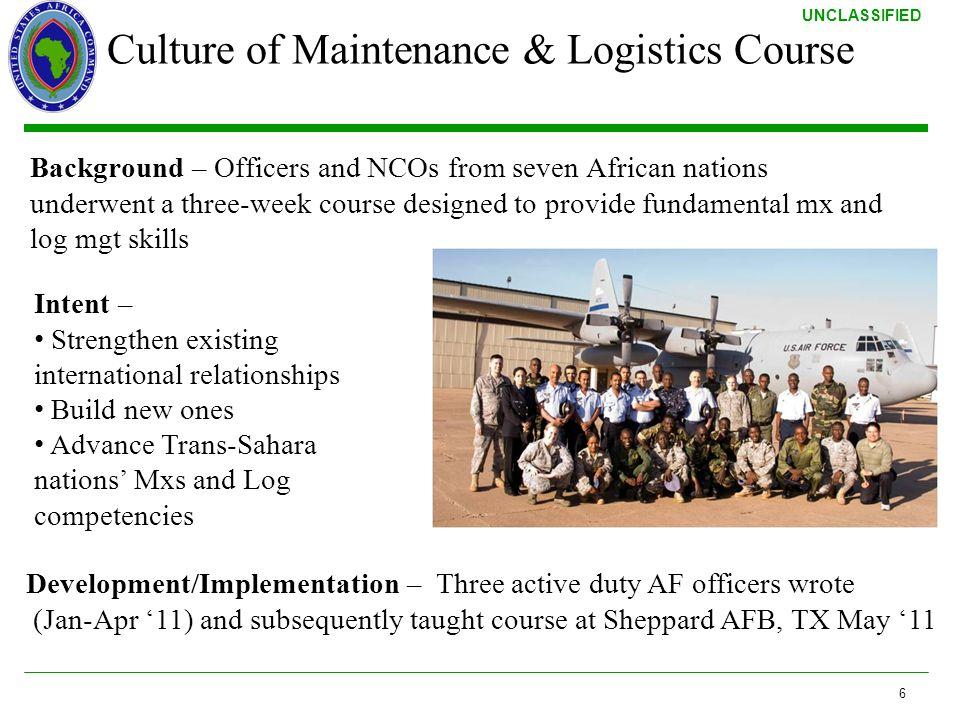 Culture of Maintenance & Logistics Course