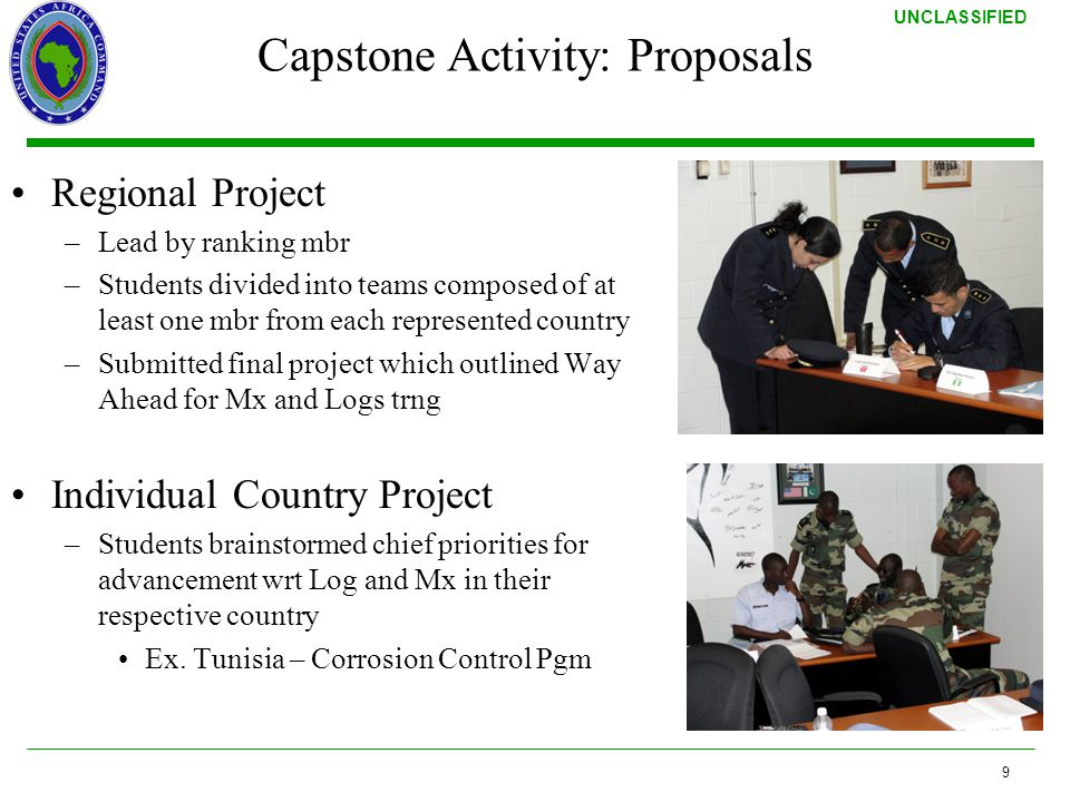 Capstone Activity: Proposals
