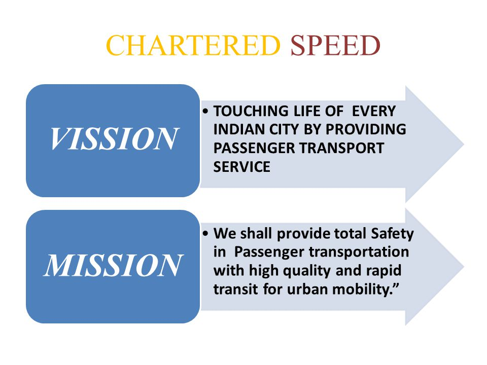 CHARTERED SPEED VISSION
