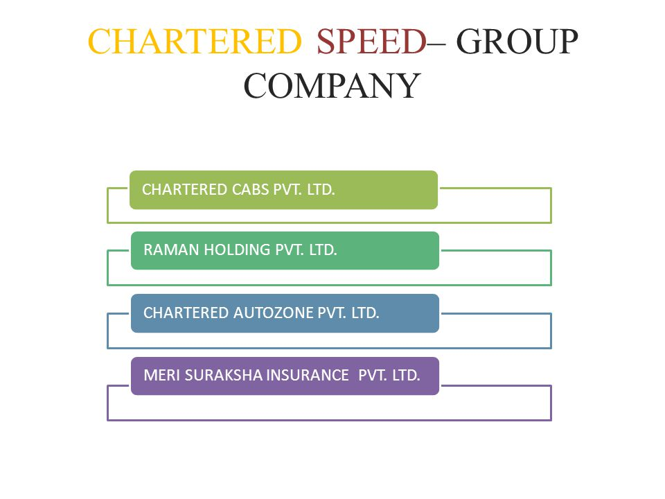 CHARTERED SPEED– GROUP COMPANY