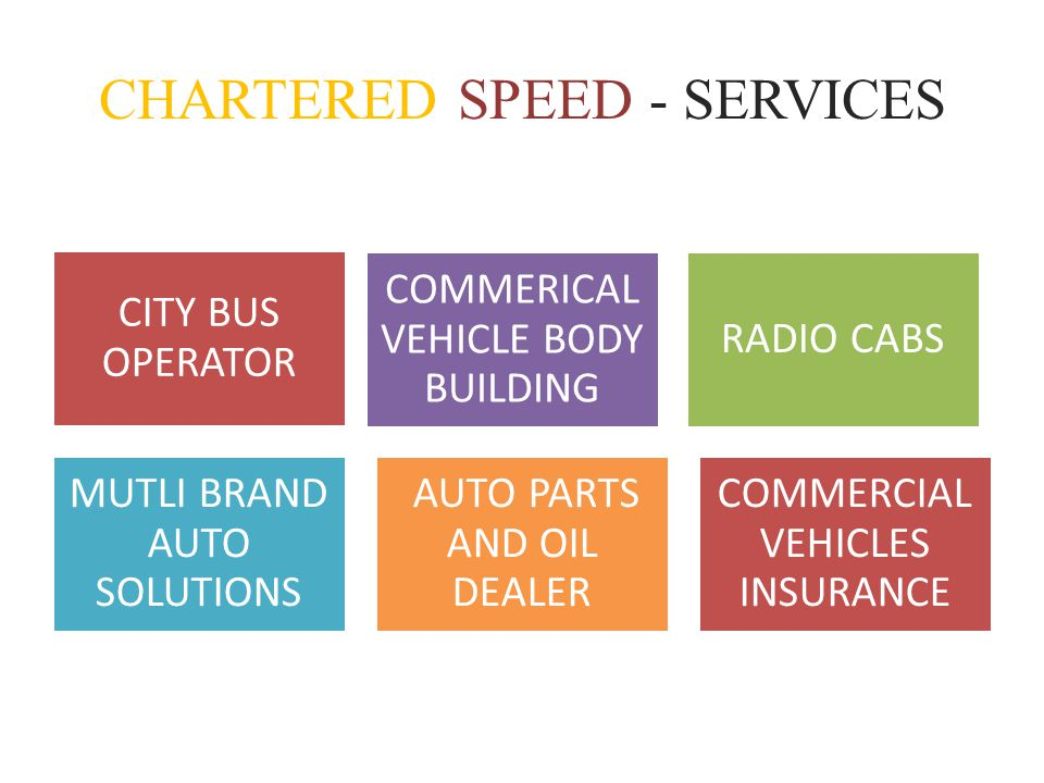 CHARTERED SPEED - SERVICES