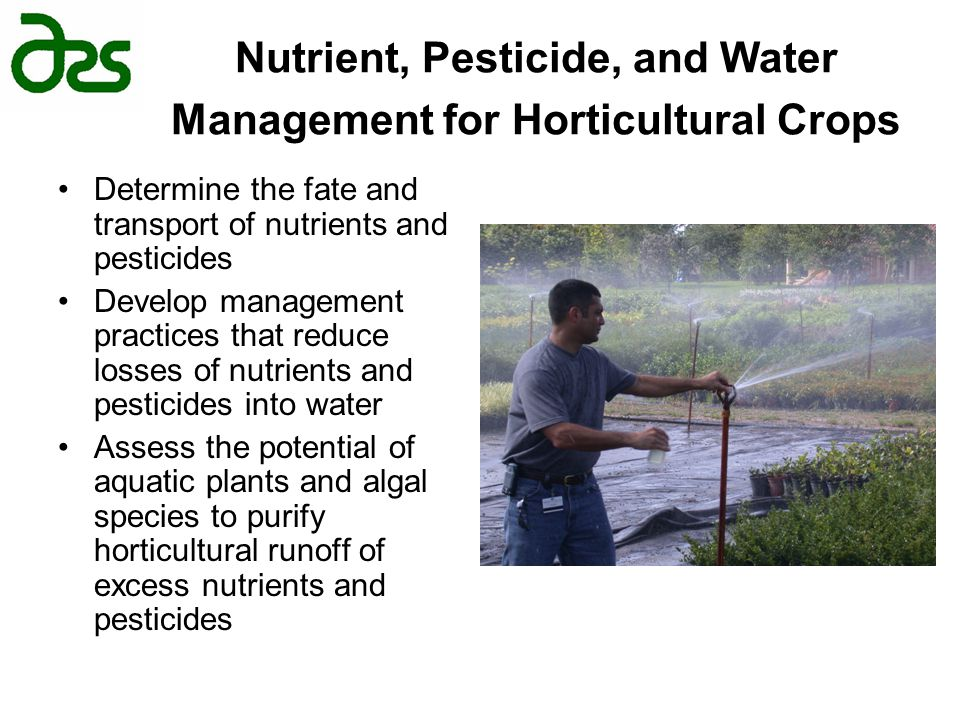 Nutrient, Pesticide, and Water Management for Horticultural Crops