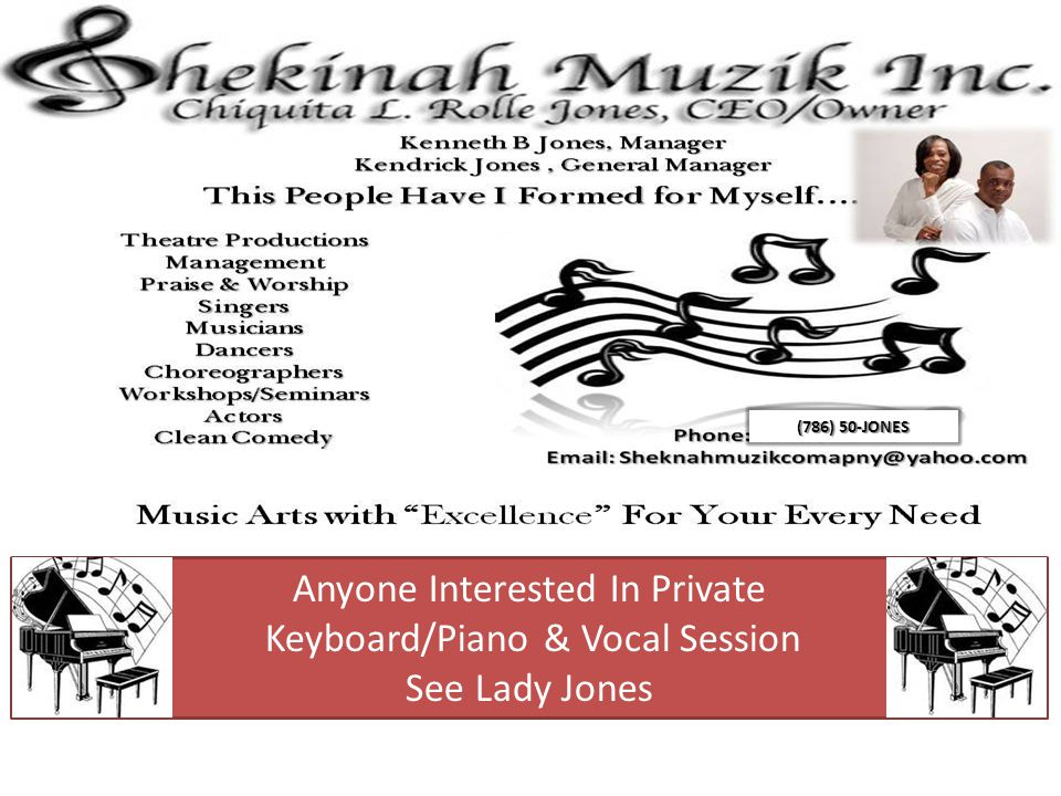 Anyone Interested In Private Keyboard/Piano & Vocal Session
