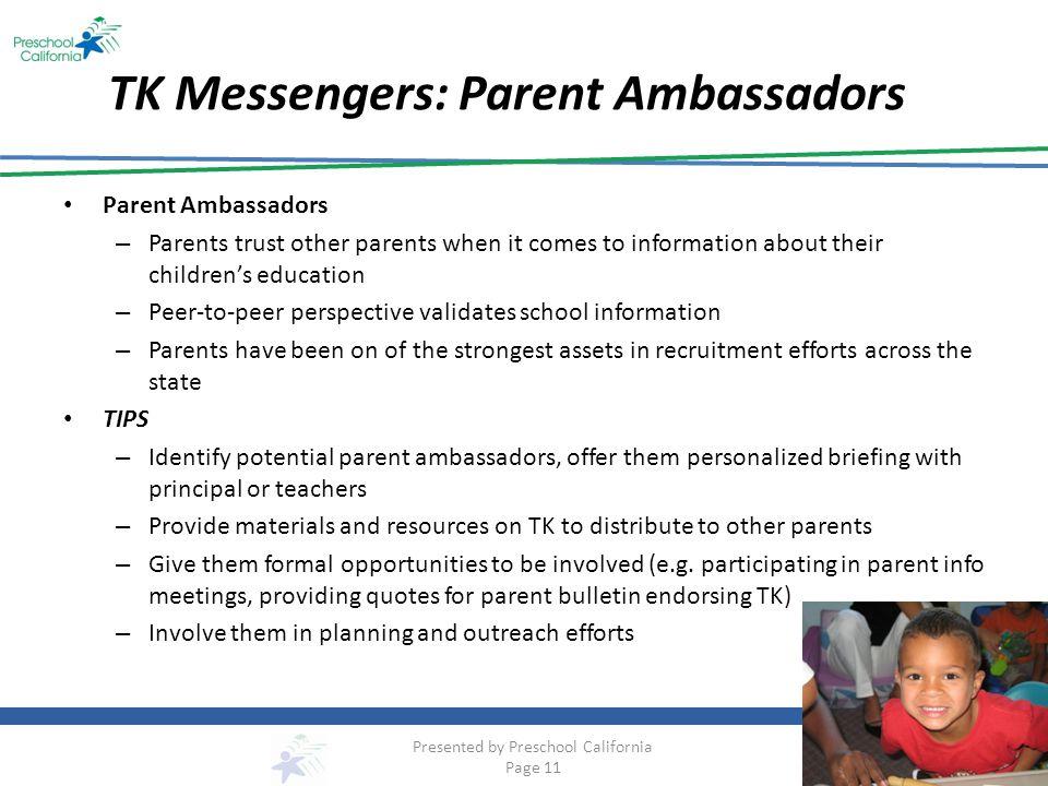 TK Messengers: Parent Ambassadors