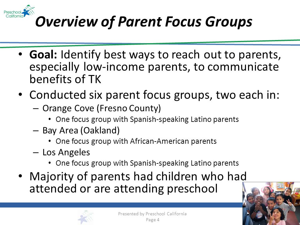 Overview of Parent Focus Groups