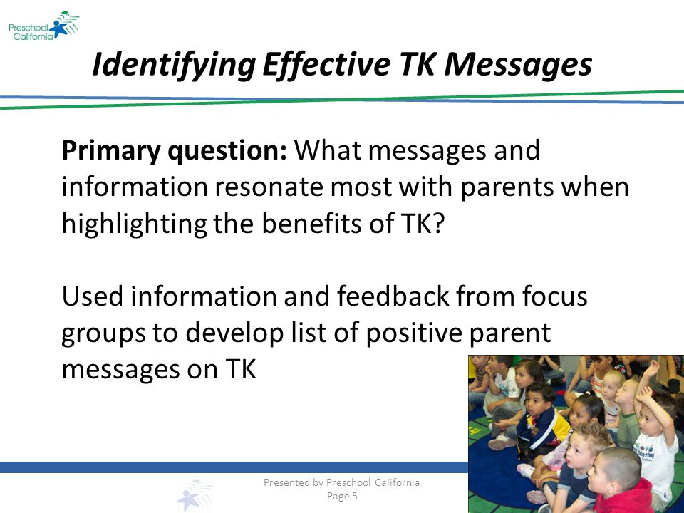 Identifying Effective TK Messages