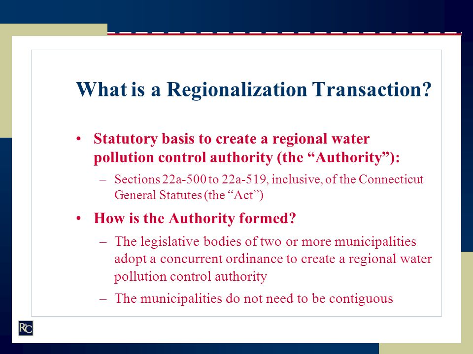 What is a Regionalization Transaction