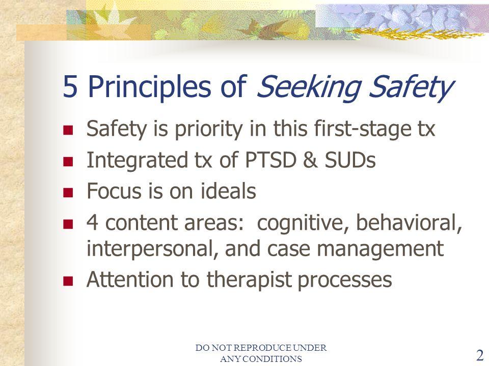 5 Principles of Seeking Safety