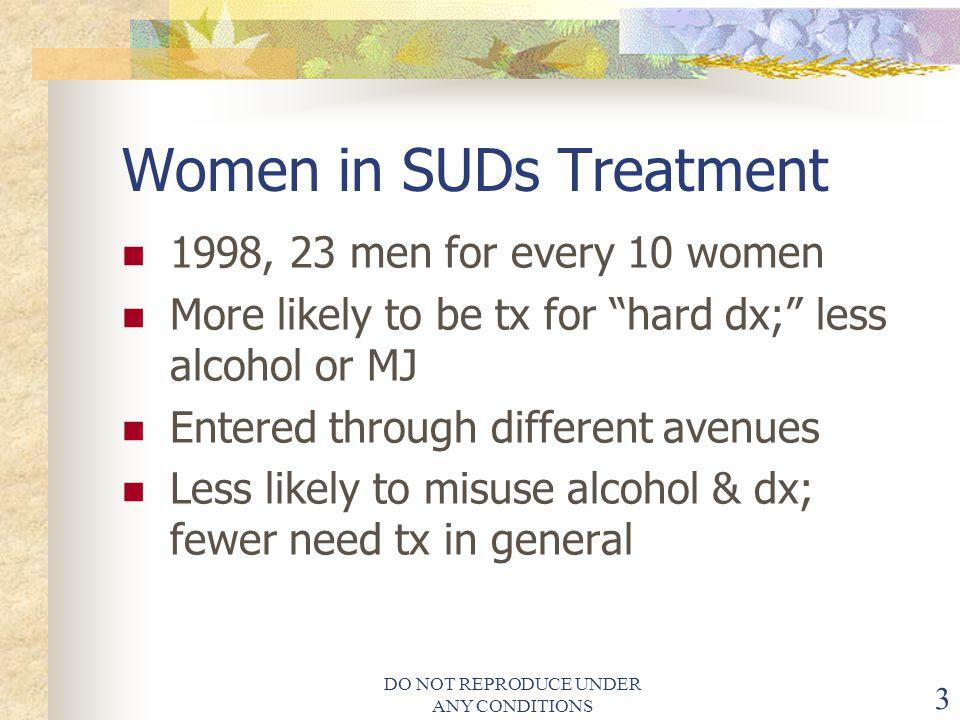 Women in SUDs Treatment