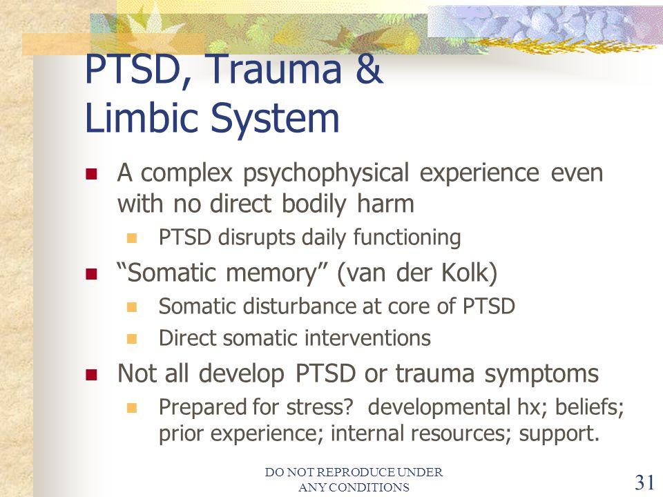 PTSD, Trauma & Limbic System
