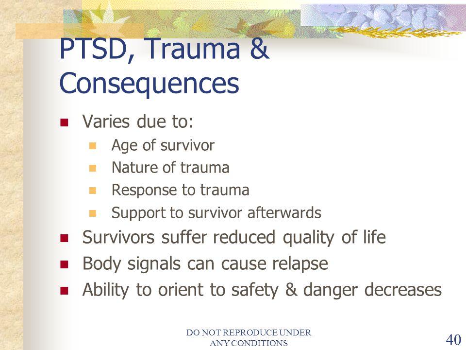 PTSD, Trauma & Consequences