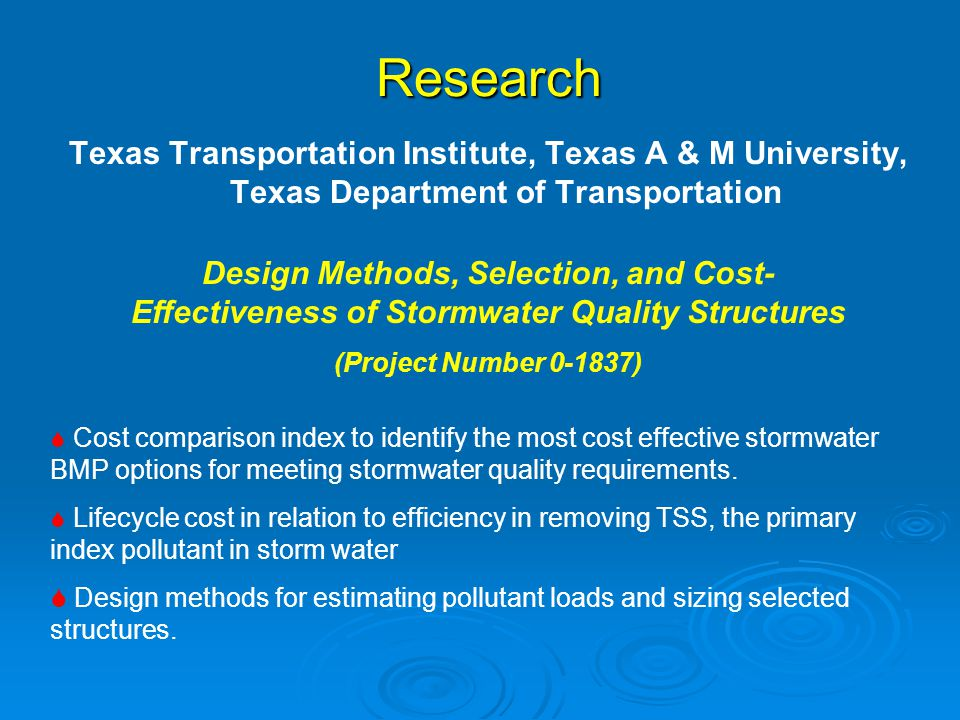 Research Texas Transportation Institute, Texas A & M University, Texas Department of Transportation.