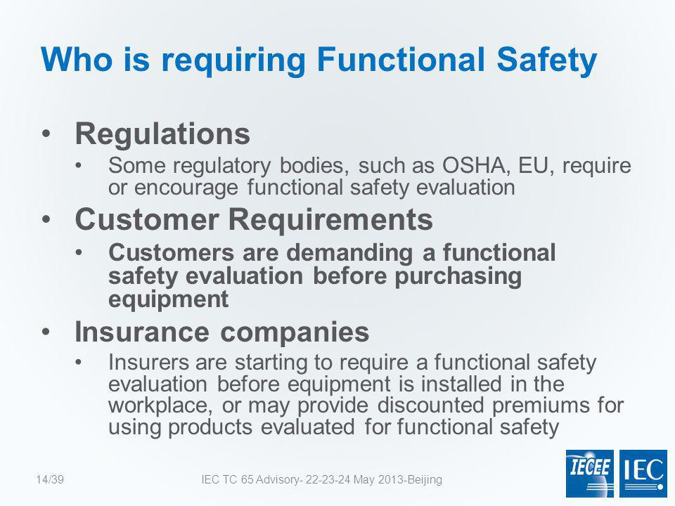 Who is requiring Functional Safety
