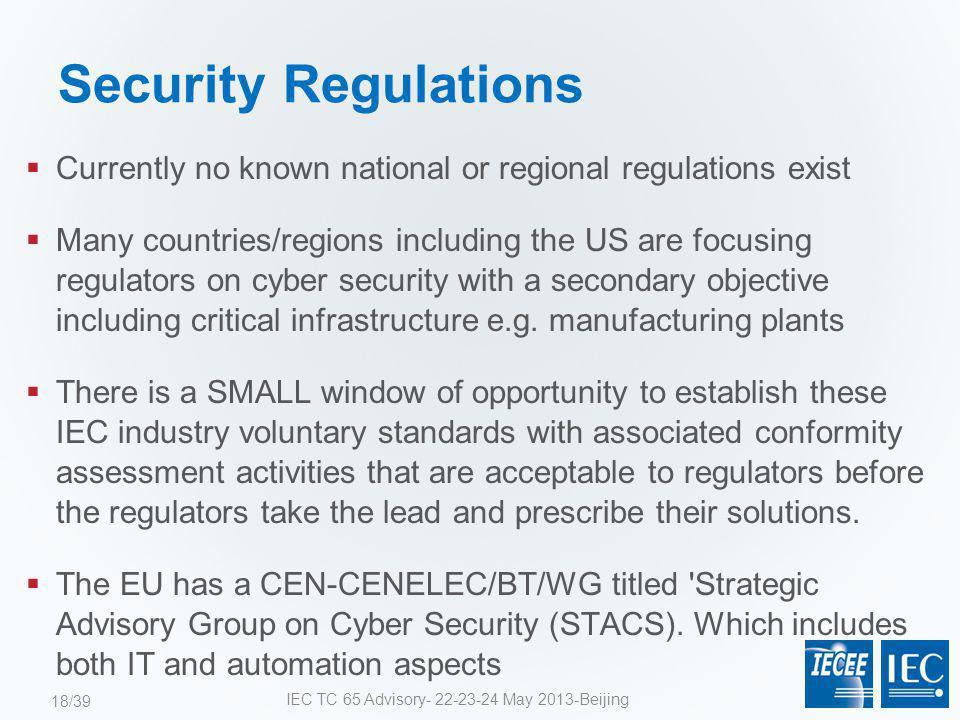 IEC TC 65 Advisory- 22-23-24 May 2013-Beijing