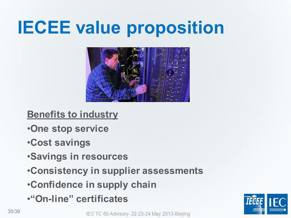 IECEE value proposition