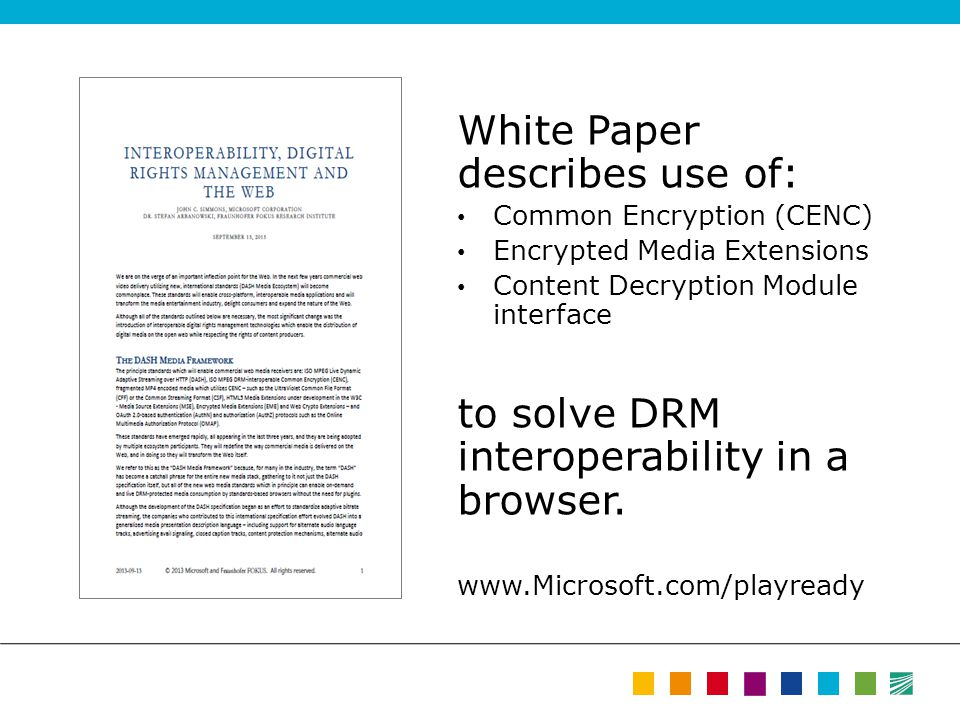 White Paper describes use of: