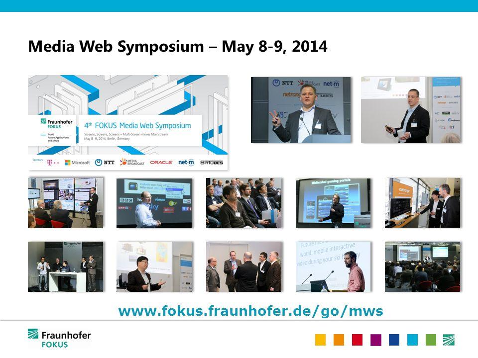 Media Web Symposium – May 8-9, 2014