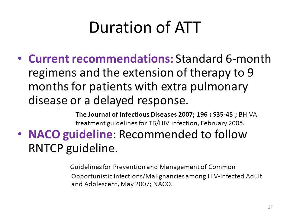 Duration of ATT