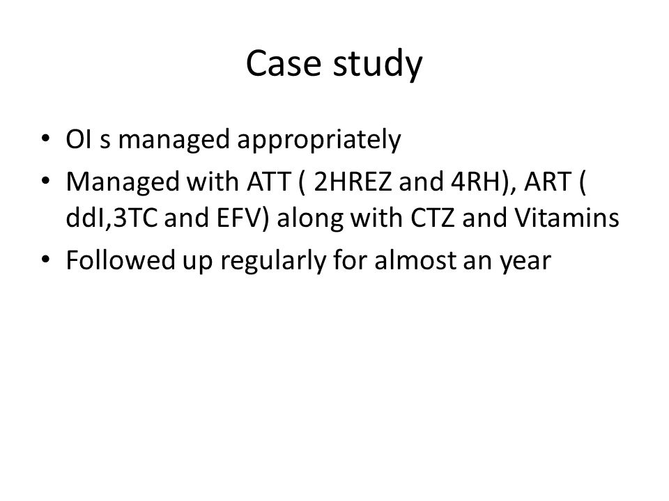 Case study OI s managed appropriately