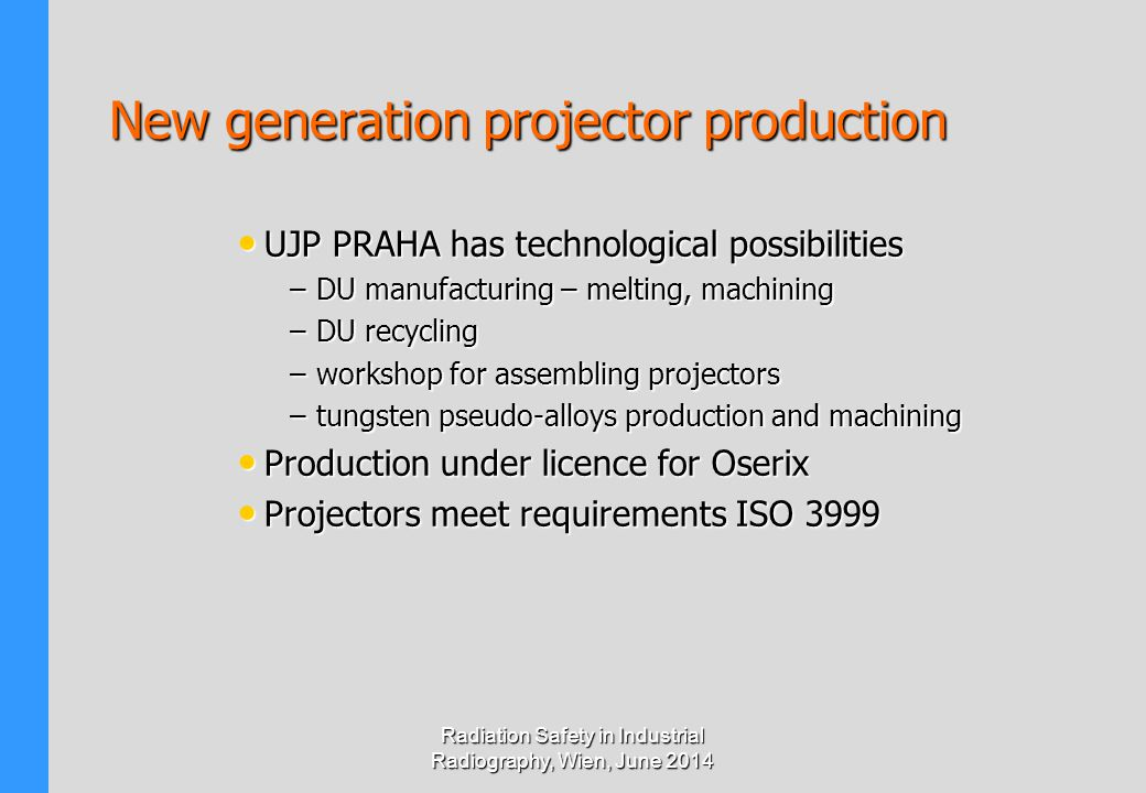New generation projector production