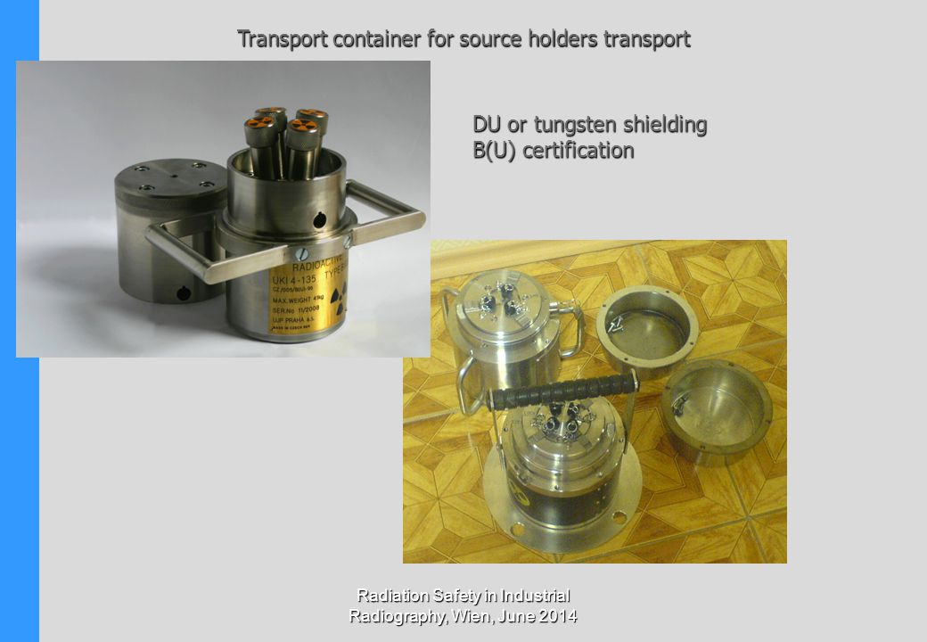 Transport container for source holders transport