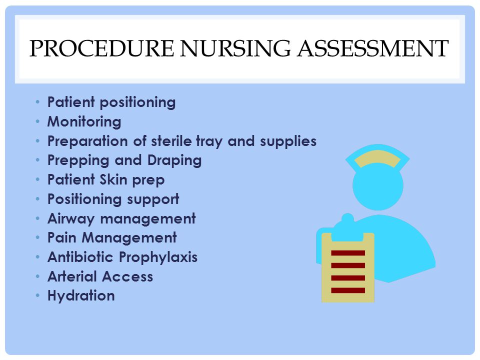 Procedure nursing assessment