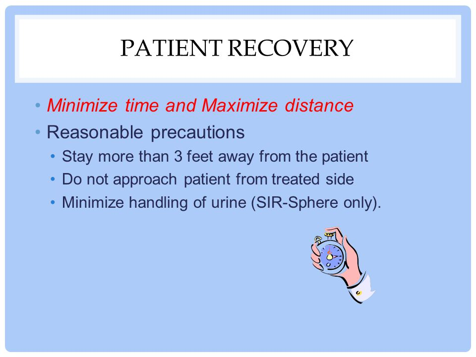 Patient recovery Minimize time and Maximize distance