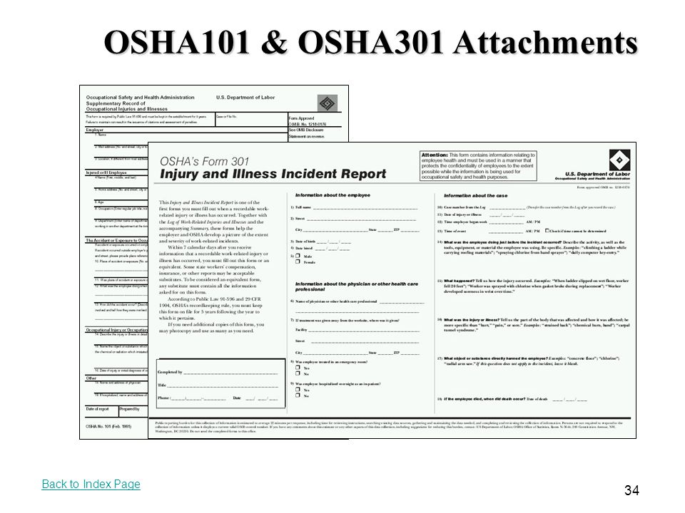 OSHA101 & OSHA301 Attachments