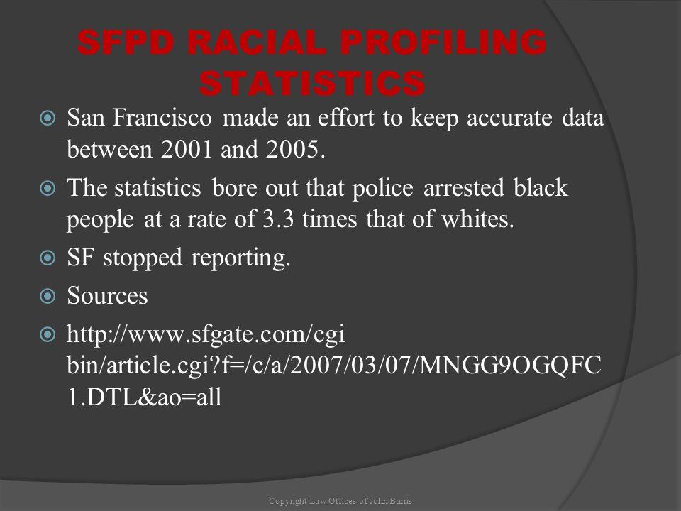 SFPD RACIAL PROFILING STATISTICS
