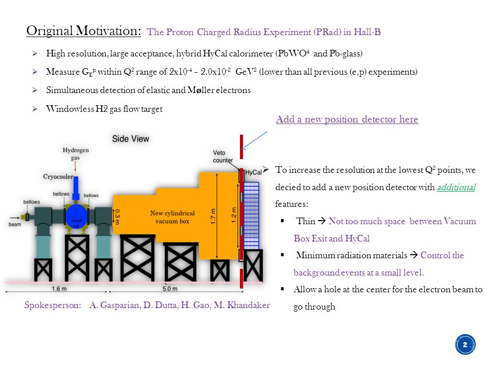 Original Motivation: The Proton Charged Radius Experiment (PRad) in Hall-B