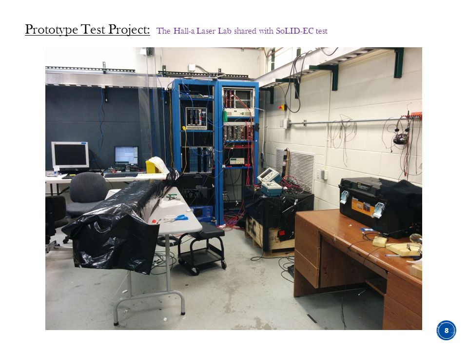 Prototype Test Project: The Hall-a Laser Lab shared with SoLID-EC test