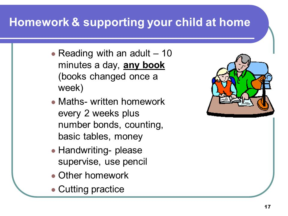 Homework & supporting your child at home
