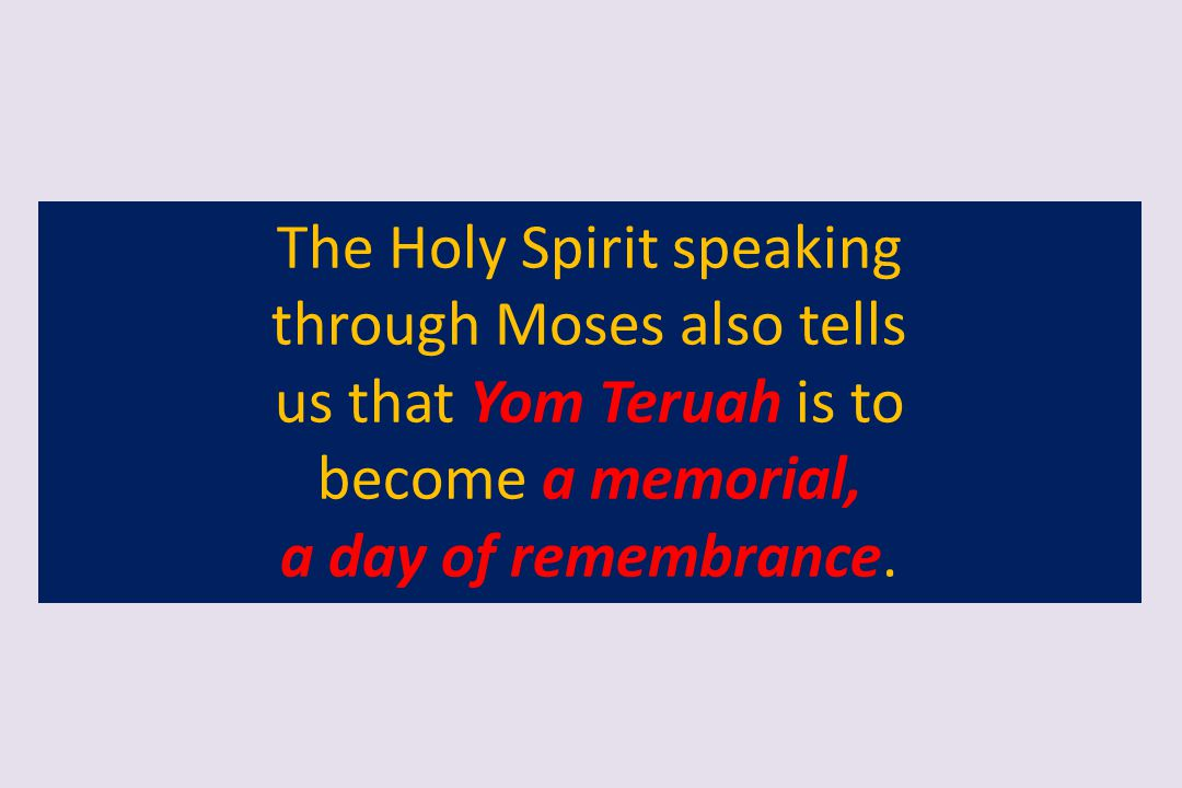 The Holy Spirit speaking through Moses also tells